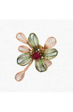 MULTI COLOUR BROOCH WITH SEMI-PRECIOUS STONES