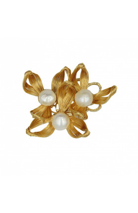 PEARLS & FLOWERS BROOCH