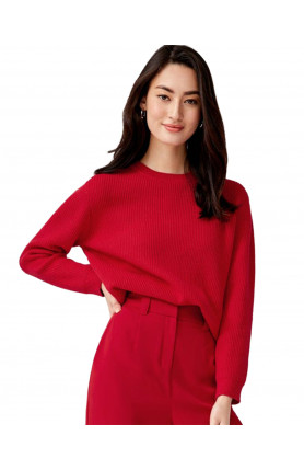 CAMILLA KNIT SWEATER - RED