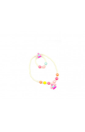 PINK CROWN NECKLACE I