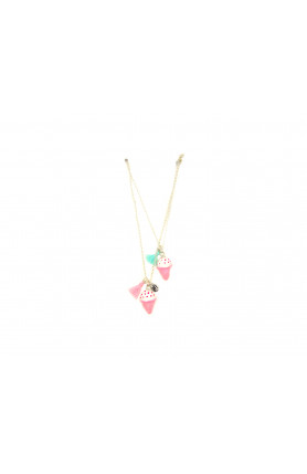 BLUE AND PINK ICE CREAM BFF NECKLACE