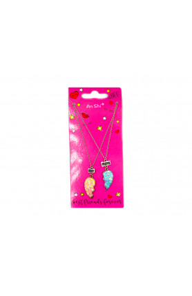 PINK BLUE BFF NECKLACE
