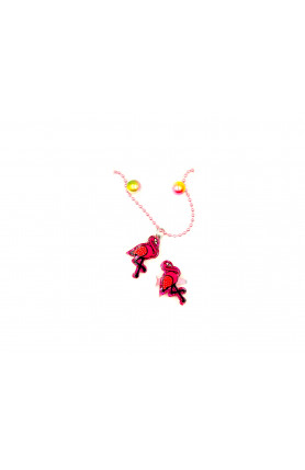 RED PEACOCK NECKLACE