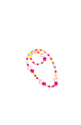 COLORS WITH PINK STARS NECKLACE