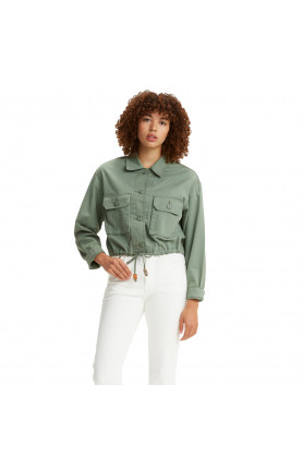 LEVI'S® WOMEN'S CROPPED SOFT SURPLUS JACKET - GREEN