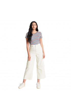 LEVI'S® WOMEN'S HIGH-WAISTED WIDE-LEG CROPPED UTILITY P..