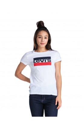 WOMEN'S SLIM LOGO T-SHIRT - WHITE