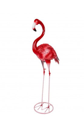 MEDIUM SIZED DECORATIVE PINK FLAMINGO