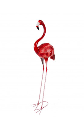 LARGE SIZED DECORATIVE PINK FLAMINGO