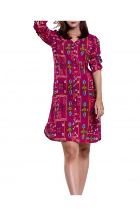 AMARA DRESS IN MAROON