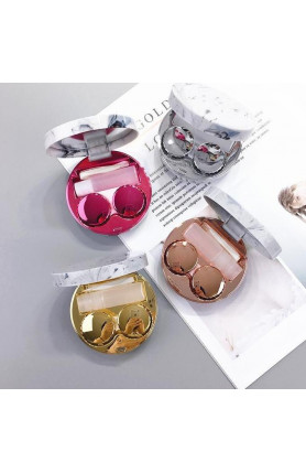 MARBLE CHROME CONTACT LENS CASE