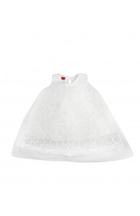 WHITE FLOWER TUTU DRESS