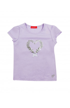 PURPLE LOVE PRINTING TOP (BABY)
