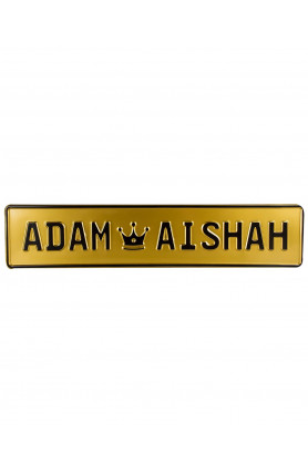 GOLD NAME PLATE