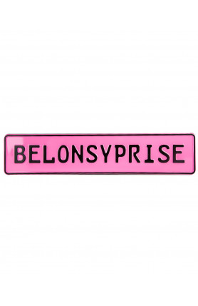 PINK NAME PLATE