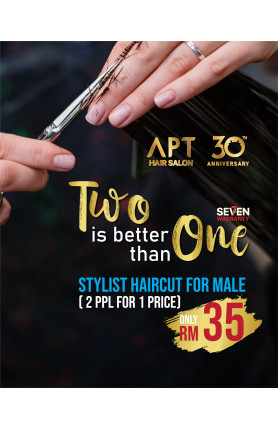 TWO IS BETTER THAN ONE - STYLIST HAIRCUT FOR MALE VOUCH..