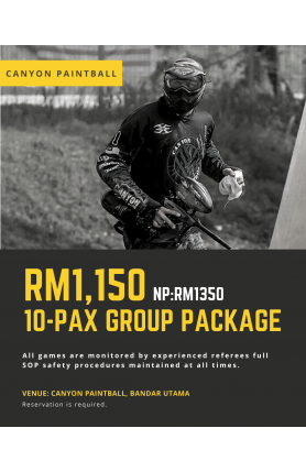 CANYON PAINTBALL 10-PAX GROUP PACKAGE