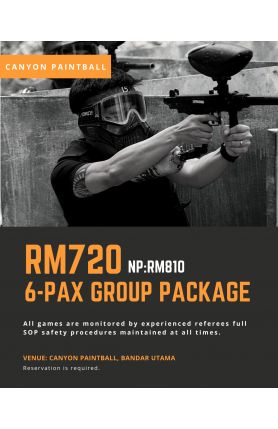 CANYON PAINTBALL 6-PAX GROUP PACKAGE