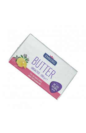 EMBORG BUTTER UNSALTED 200GM