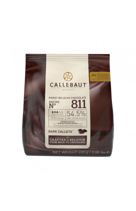 CALLEBAUT 811 DARK CHOCOLATE 54.5% 400GM