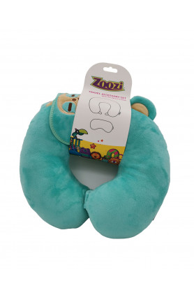HAMLEYS ZOOZI AQUA EYE PATCH AND NECK PILLOW