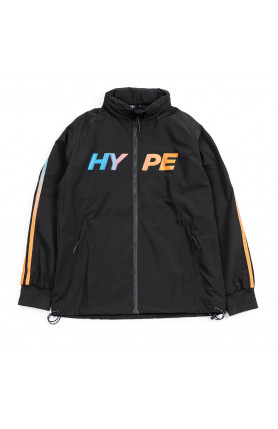 ATHLETIC GEAR VIBRANT WINDBREAKER JACKET | BLACK