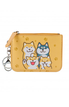 COIN PURSE WITH CARD HOLDER - SHIBA