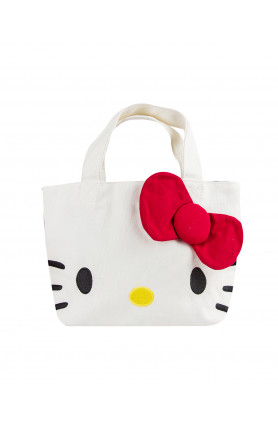 CANVAS TOTE REVERSABLE HAND BAG HELLO KITTY