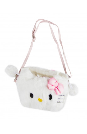 PLUSHY PULL STRING HELLO KITTY SLING BAG