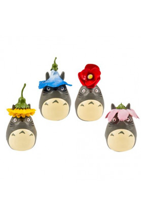 TOTORO SET OF FOUR SEASON FLOWER FIGURINE