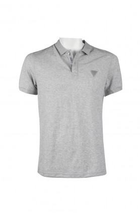 LOGO POLO SHIRT - MELANGE GREY