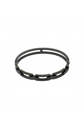 BLACK STAINLESS STEEL BANGLE