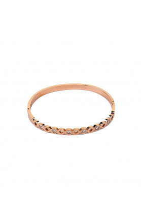 ROSE GOLD EMBELLISHED STAINLESS STEEL BANGLE
