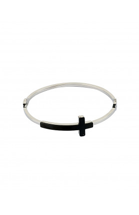 CROSS STAINLESS STEEL BANGLE