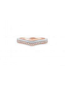 LVC PERFECTION WEDDING BAND IN WHITE AND ROSE GOLD WITH..