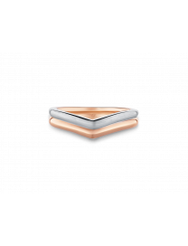 LVC PERFECTION WEDDING BAND IN WHITE AND ROSE GOLD
