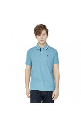 MEN'S REGULAR FIT COOLTECH POLO TEE - GREY BLUE