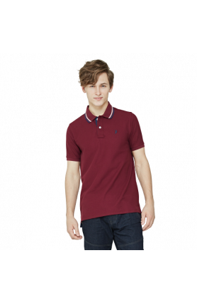 MEN'S REGULAR FIT COOLTECH POLO TEE - WINE