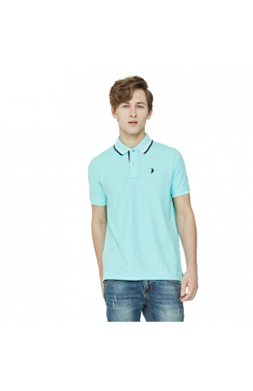 MEN'S REGULAR FIT COOLTECH POLO TEE - TURQUOISE