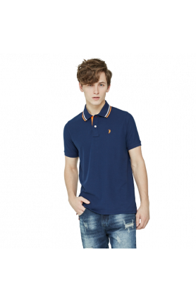 MEN'S REGULAR FIT COOLTECH POLO TEE - NAVY