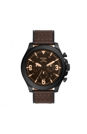 LATITUDE CHRONOGRAPH BROWN LEATHER WATCH