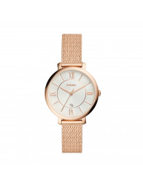 JACQUELINE THREE-HAND ROSE GOLD-TONE STAINLESS STEEL WA..