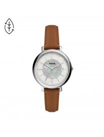 JACQUELINE SOLAR-POWERED BROWN LEATHER WATCH