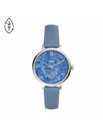 KAYLA THREE-HAND PERIWINKLE BLUE LEATHER WATCH