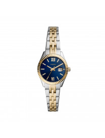 SCARLETTE MICRO THREE-HAND DATE TWO-TONE STAINLESS STE..