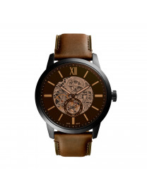 TOWNSMAN 48MM AUTOMATIC BROWN LEATHER WATCH