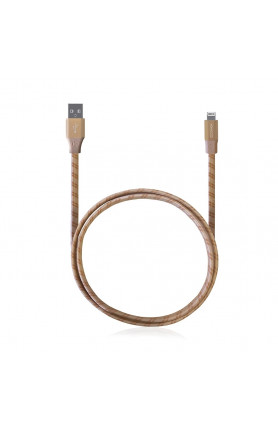 MONOCOZZI MOTIF |BRAIDED LIGHTNING CABLE FLAT 100CM - G..