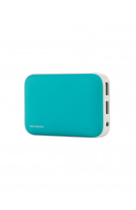 THECOOPIDEA CLAY POWER BANK 9000MAH DUAL USB 2.4A BLUE