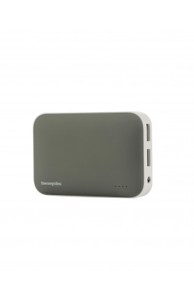 THECOOPIDEA CLAY POWER BANK 9000MAH DUAL USB 2.4A GREY