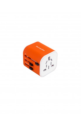 THECOOPIDEA CUBIC UNIVERSAL TRAVEL ADAPTER ORANGE